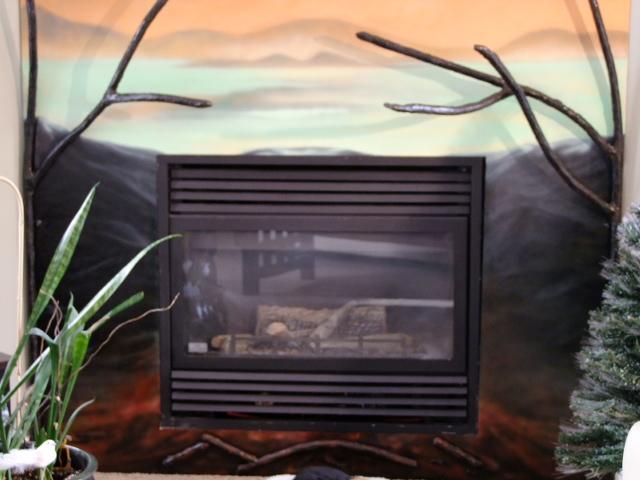 Custom Air Brush - fireplace